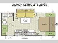 Floorplan - 2016 Starcraft Launch Ultra Lite 21FBS