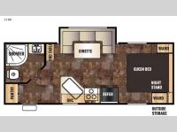 Floorplan - 2016 Forest River RV Cherokee Grey Wolf 21RB