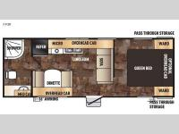 Floorplan - 2016 Forest River RV Cherokee Grey Wolf 23QB