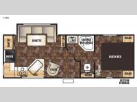 Floorplan - 2016 Forest River RV Cherokee Grey Wolf 24RK