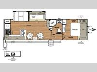 Floorplan - 2016 Forest River RV Wildwood Heritage Glen 282RK