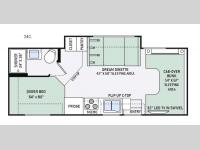 Floorplan - 2016 Thor Motor Coach Four Winds 24C
