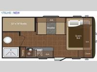 Floorplan - 2016 Keystone RV Hideout Single Axle 175LHS