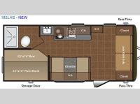 Floorplan - 2016 Keystone RV Hideout Single Axle 185LHS