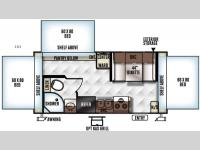 Floorplan - 2016 Forest River RV Rockwood Roo 183