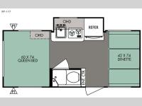 Floorplan - 2016 Forest River RV R Pod RP-177