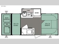 Floorplan - 2016 Forest River RV R Pod RP-182G