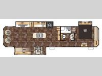 Floorplan - 2016 Forest River RV Cherokee Destination Trailers 39RL