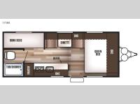 Floorplan - 2016 Forest River RV Wildwood X Lite FS 175BH