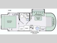 Floorplan - 2016 Thor Motor Coach Citation Sprinter 24SR