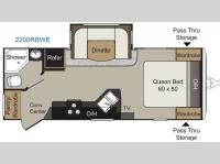 Floorplan - 2016 Keystone RV Passport 2200RBWE Grand Touring