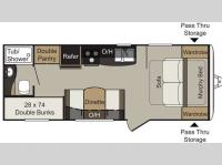 Floorplan - 2016 Keystone RV Passport 238ML Express