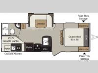 Floorplan - 2016 Keystone RV Passport 2400BH Grand Touring