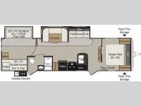 Floorplan - 2016 Keystone RV Passport 3220BH Grand Touring