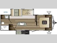 Floorplan - 2016 Keystone RV Cougar X-Lite 26RBI