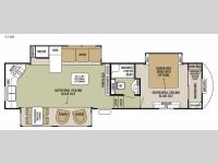 Floorplan - 2016 Forest River RV Cedar Creek Silverback 31RK