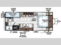 Floorplan - 2016 Forest River RV Flagstaff Micro Lite 23LB
