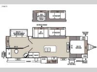 Floorplan - 2016 Forest River RV Flagstaff Super Lite 29IKTS