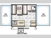 Floorplan - 2016 Forest River RV Rockwood Freedom Series 1640LTD