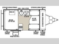 Floorplan - 2016 Forest River RV Rockwood Hard Side Series A192HW