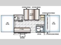 Floorplan - 2016 Forest River RV Rockwood Premier 2516G