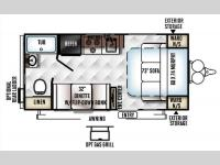 Floorplan - 2016 Forest River RV Rockwood Mini Lite 1905