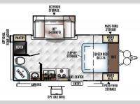 Floorplan - 2016 Forest River RV Rockwood Mini Lite 2104S