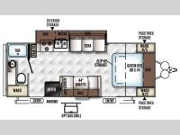 Floorplan - 2016 Forest River RV Rockwood Mini Lite 2502KS