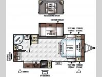 Floorplan - 2016 Forest River RV Rockwood Ultra Lite 2304DS