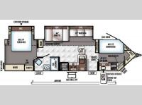 Floorplan - 2016 Forest River RV Rockwood Wind Jammer 3006WK