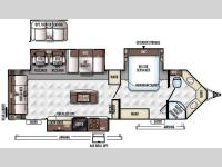 Floorplan - 2016 Forest River RV Rockwood Wind Jammer 3025W