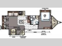 Floorplan - 2016 Forest River RV Rockwood Wind Jammer 3029W