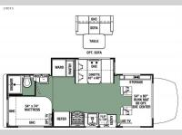 Floorplan - 2016 Forest River RV Forester MBS 2401S