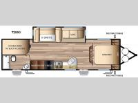 Floorplan - 2016 Forest River RV EVO T2850