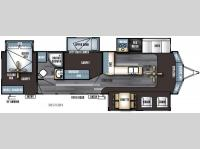 Floorplan - 2016 Forest River RV Salem Villa Series 385FLBH Estate