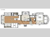Floorplan - 2016 Forest River RV Sandpiper 371REBH