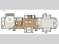 Floorplan - 2016 Forest River RV Sandpiper 377FLIK
