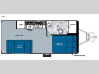 Floorplan - 2016 Forest River RV Work and Play 18EC