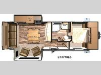 Floorplan - 2016 Open Range RV Light LT274RLS