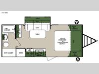 Floorplan - 2016 Forest River RV Surveyor 201RBS