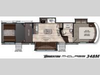 Floorplan - 2016 Grand Design Momentum M-Class 348M