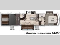Floorplan - 2016 Grand Design Momentum M-Class 388M