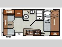 Floorplan - 2016 Gulf Stream RV Vista Cruiser 17RWD