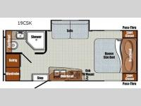 Floorplan - 2016 Gulf Stream RV Vista Cruiser 19CSK