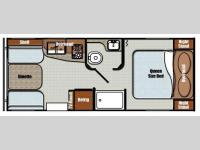 Floorplan - 2016 Gulf Stream RV Vista Cruiser 19ERD