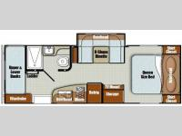 Floorplan - 2016 Gulf Stream RV Vista Cruiser 23CSK