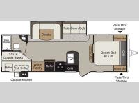 Floorplan - 2016 Keystone RV Passport 2670BH Grand Touring