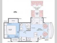 Floorplan - 2016 Itasca Sunstar LX 27N