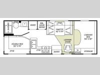 Floorplan - 2007 Fleetwood RV Jamboree 24D