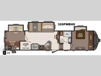Floorplan - 2016 Keystone RV Sprinter 326FWBHS
